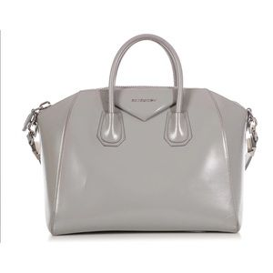 Givenchy Medium Gray Shiny Lord Antigona Tote
